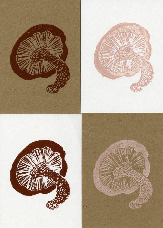 Small Mushroom Set of 4